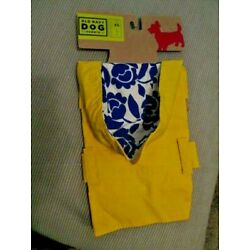 OLD NAVY DOG SUPPLY Unisex Yellow Vinyl Attached Hood Raincoat XS(11''-13'') NEW