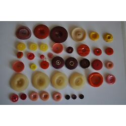 Kyпить Vintage Buttons Yellow and Orange Assortment 40 Buttons FREE SHIPPING на еВаy.соm