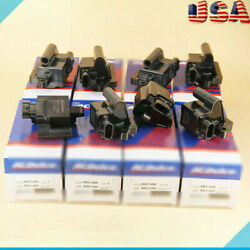Pack of 8 Square Ignition Coils D581 For AC Delco Chevy GMC Cadillac Yukon UF271