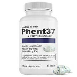 Phent37 (60 TABLETS) Fat Burner Appetite Suppressant 37.5 weight loss diet pills