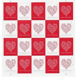 Kyпить 1 Sheet of 20 USPS Forever Love Hearts Stamps  на еВаy.соm