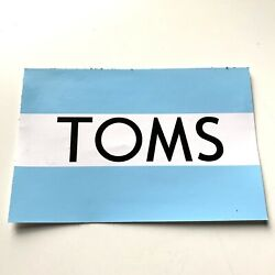 Toms Shoes Sticker Decal Official Flag Blue White Rectangle 4.5 inch
