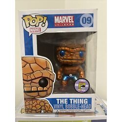 """Kyпить Funko Pop!Marvel The Thing #09 Metallic Exclusive limited """"MINT"""" With Protector на еВаy.соm"""