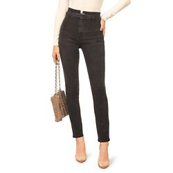 REFORMATION Women s Kayo High & Skinny Belted Jeans Erie Wash Size 25 $118 NWOT