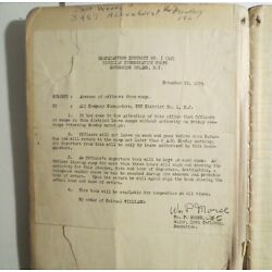 Kyпить 1934 CCC Civilian Conservation Corps Officers Leave Log Book Rare NYC на еВаy.соm