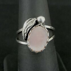 Kyпить Ring Silver Pink Mother of Pearl Stone Band Sterling 925 Size 6.5 Ring 6 1/2  на еВаy.соm