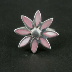 Kyпить Ring Silver Flower Pink Mother of Pearl Band Sterling 925 Size 5.5 Ring 5 1/2  на еВаy.соm