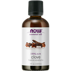 NOW Foods Clove Oil 4 fl. oz FREE SHIPPING. MADE IN USA