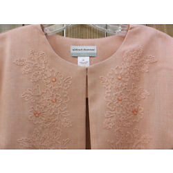 NWOT  ALFRED DUNNER Petite  LA DOLCE VITA Open Front  Embroidered Jacket 16P