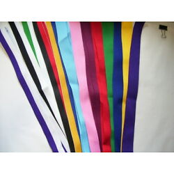 V- NECK RIBBON WITH CLASP ASSORTED COLORS FOR MEDALS APPROX. 32