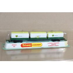 TRIANG HORNBY R635 CANADIAN FREIGHTLINER BP CHEMICALS CONTAINER WAGON SEALED nx