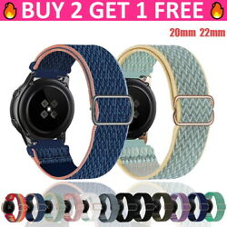 Elastic Stretchy Soft Loop 20mm 22mm Watch Band Strap Samsung Galaxy Active 2 S3
