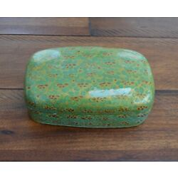 Trinket box hand painted lacquer paper Mache Kashmir India brand new style #003