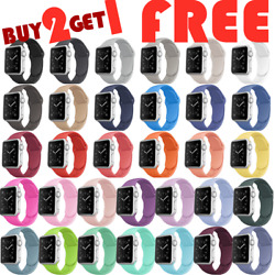 For Apple Watch Silicone Band Strap for iWatch Series 6/5/4/3/2/SE 44/42/40/38mm