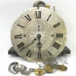 8 Bell 4 Gong English Tall Case Clock Movement with Dial and Hands - KS724