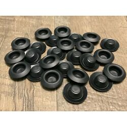 25 pcs 1/2'' recessed center hole body plugs undercoating rustproofing poly plug