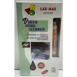 Lax-max Video Head Cleaner Wet Type New VHS