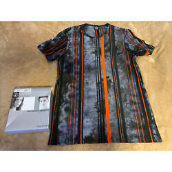Mens Bruno Banani Shirt Size 6 Crazy Stripes Short Sleeve Made In Germany