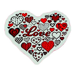 LOVE HEART STICKER     2 1/2 x 2 1/4  Love Is In The Air