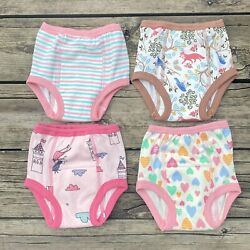 4 Pack Moomoo Baby Toddler Size 2T Training Underwear Underpants Girls NEW