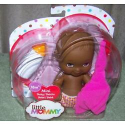 Fisher Price Little Mommy 6'' Mini Baby Girl AA Doll Brown Eyes New
