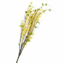Factory Direct Craft Yellow Artificial Berry Cluster and Twig Spray