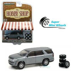 Greenlight 1:64 Hobby Shop - 2021 Chevrolet Tahoe with Spare Tires (Satin Steel)