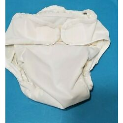 Pro Rap Wrap Cloth Diaper Cover XL White Hook and Loop--gussets