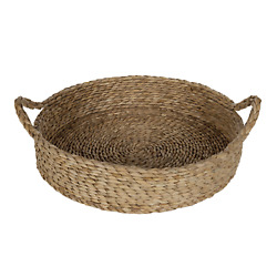 Better Homes & Gardens 16'' Round Natural Colored Water Hyacinth Woven Tray
