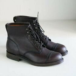 Brand New Double RL & Co.Dark Brown Men;s Lace up Boots Handmade in England 10