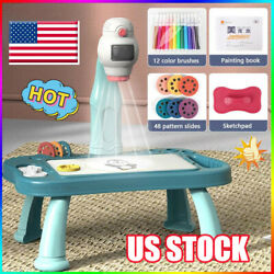 Kids Drawing Projector Table Set Smart Projection Painting Board Toy GV