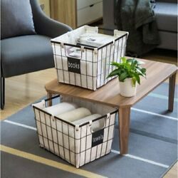 (NEW) Better Homes & Gardens Medium Wire Basket with Chalkboard, 2 Pack