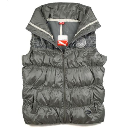 img-PUMA Padded Vest Ladies Quilted Winter Jacket Bodywarmer Gilet Army Green