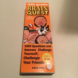 4 th Grade Brain Quest Deck 2 Ages 9-10-Free Shipping
