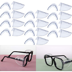 Hub s Gadget 12 Pairs Safety Eye Glasses Side Shields, Slip On Clear Side Shield