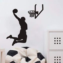Home Decal Boy Room Sports Basketball Player Wall Decal Interior Design Shoot