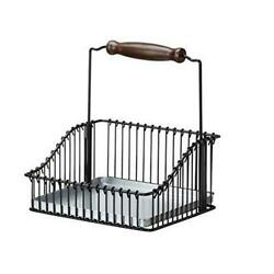 Ikea Steel Wire Basket with Handle 102.381.48, 7.75-inch, Black