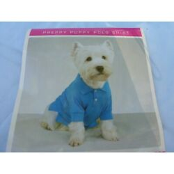DOG/Pet PREPPY PUPPY POLO SHIRT by CASUAL CANINE size XL   NEW  blue