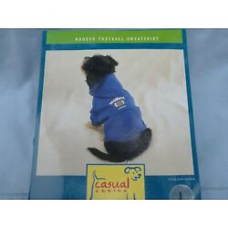 DOG/Pet  HOODED FOOTBALL SWEATSHIRT  by CASUAL CANINE size XSmall  NEW blue