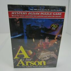 TDC Games Alphabet Mystery Jigsaw Puzzle, A is for Arson, 2- 500 piece puzzles