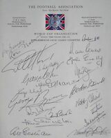 England 1966 World Cup signed 21 Bobby Charlton Ball Hurst Peters Dr Phillips ++