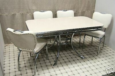 style retro 50s american diner furniture kitchen table chairs ebay