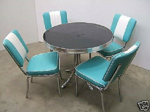 retro furniture 50s american diner kitchen table chair ebay