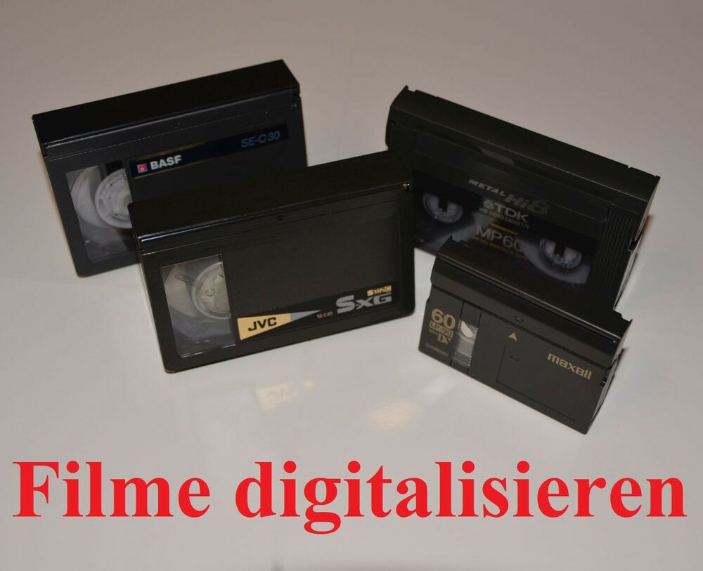 berspielen von vhs hi8 digital8 video 8 auf dvd ebay. Black Bedroom Furniture Sets. Home Design Ideas