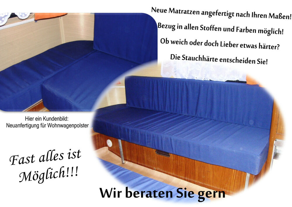matratze f wohnwagen boot wohnmobil polster nach. Black Bedroom Furniture Sets. Home Design Ideas