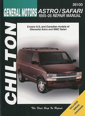 1985 2005 Chilton Gm Astro Safari Repair Manual