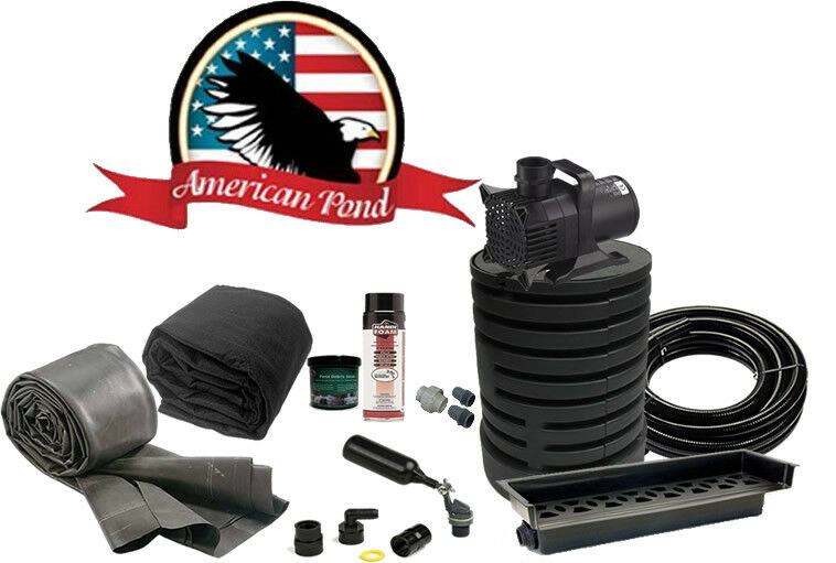 Large pond free waterfall kit w stream msrp 1225 ebay for Pond waterfall kit