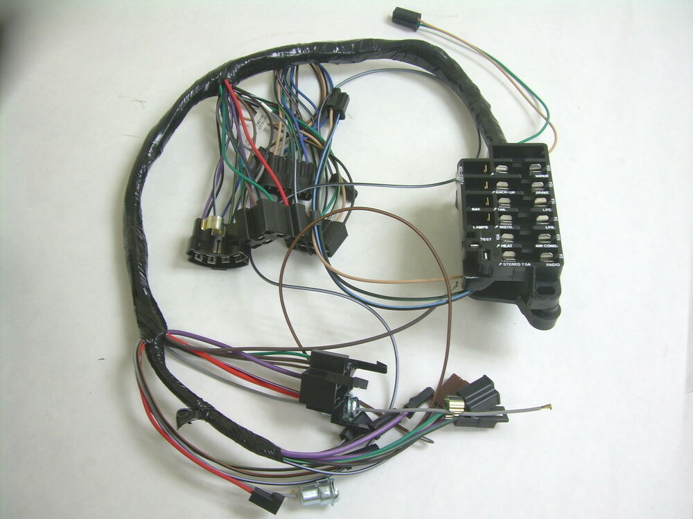 1964 Chevy Impala Ss Under Dash Wiring Harness With Fusebox Mt At W  Ac