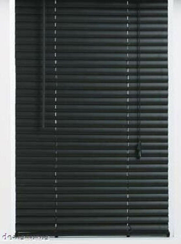 Black 1 Quot Slats Vinyl Mini Blinds 23 Quot Wide X 72 Quot Long Ebay