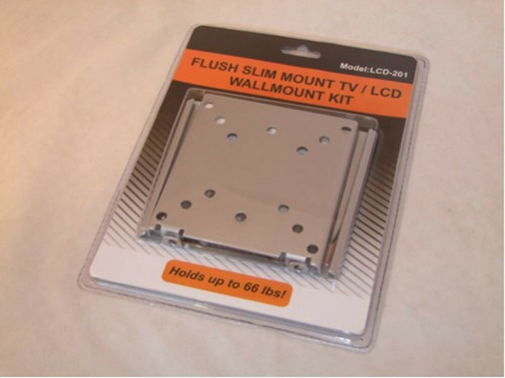 New lcd monitor flat panel flush mount wall bracket ebay for Flush with the wall